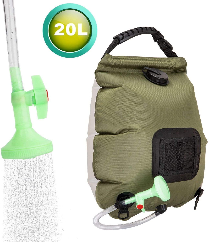 FeChiX Upgraded Solar Shower Bag