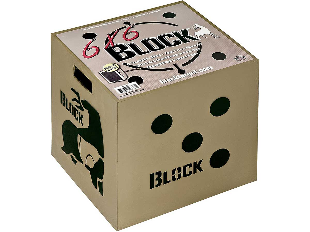 Field Logic Block 6-Sided Arrow Archery Target with Polyfusion Technology