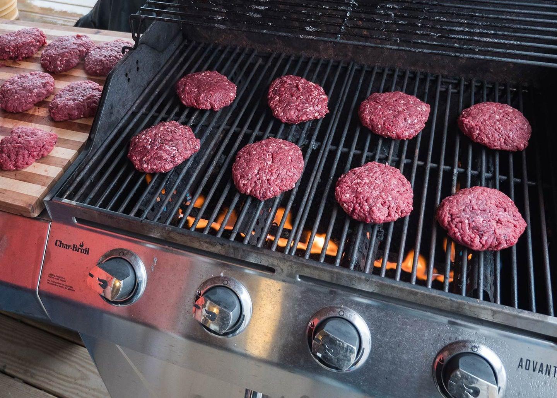 venison burgers for grilling.