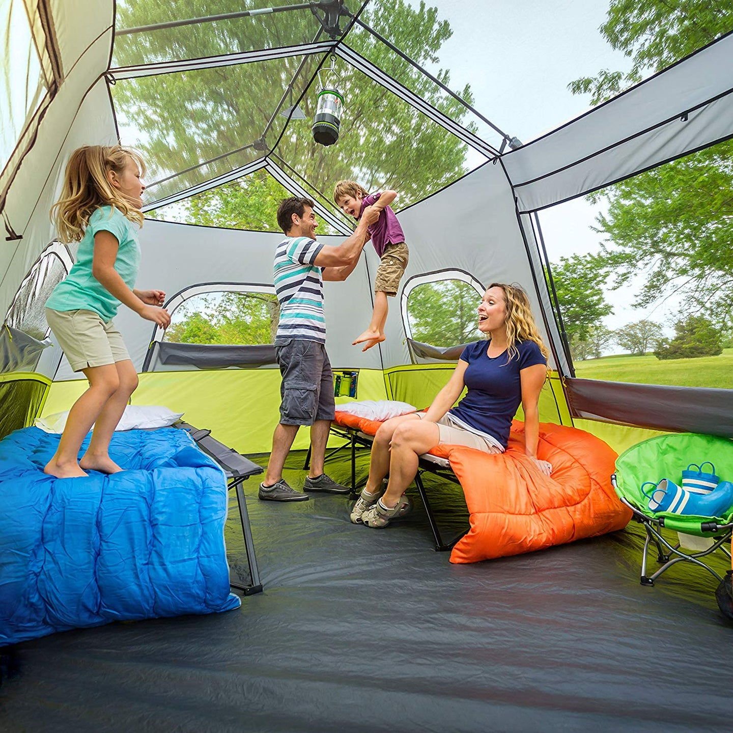 family-sized tents