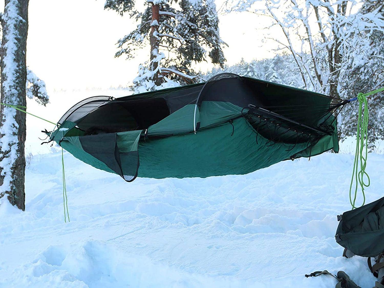 hammock hanging outside