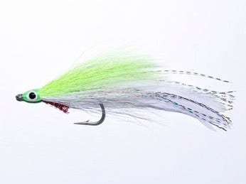 A small white fly lure.