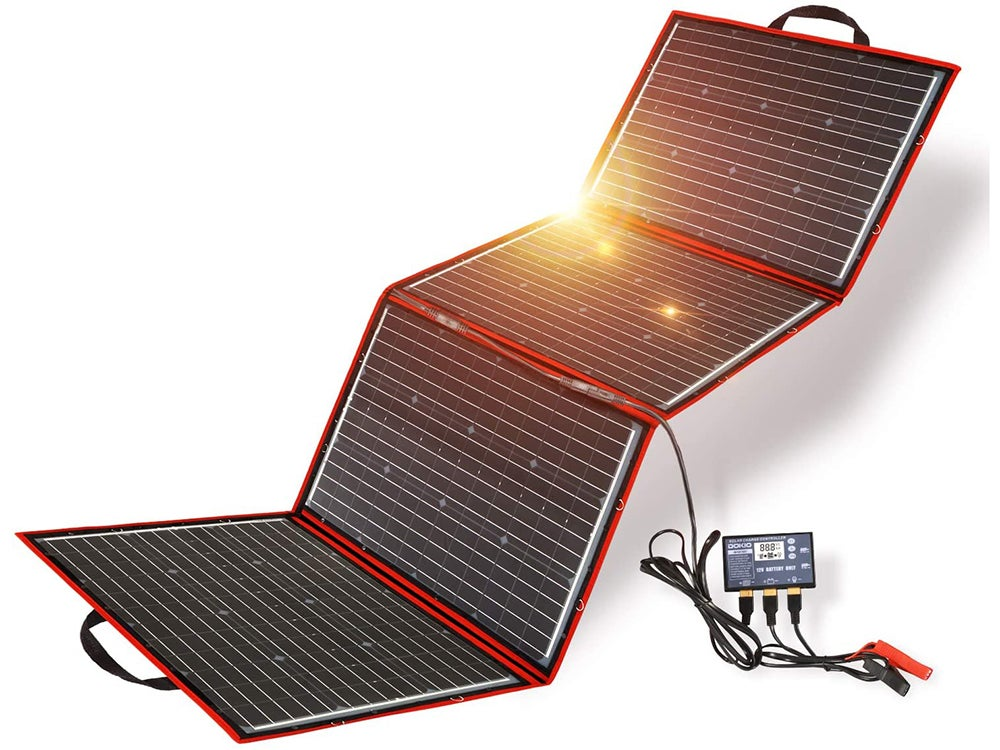 DOKIO 220 Watts 12 Volts Monocrystalline Foldable Solar Panel