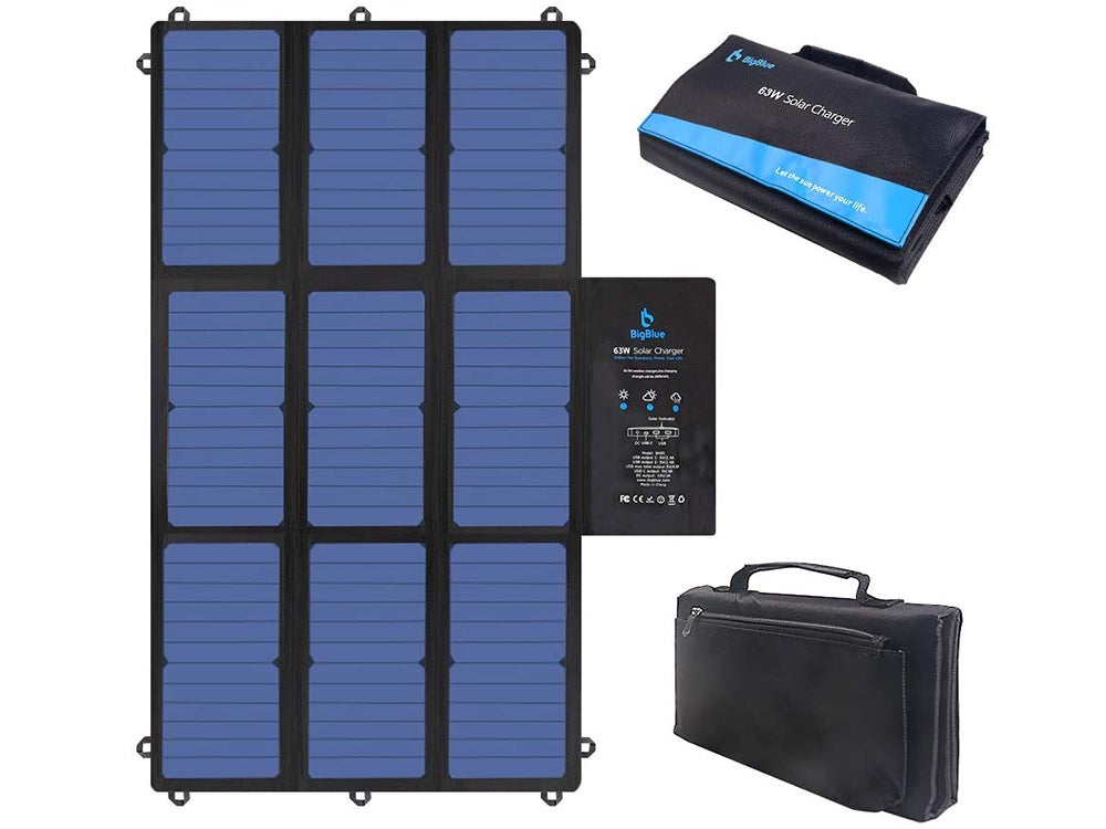 BigBlue 63W Solar Charger Portable with SunPower Solar Panel