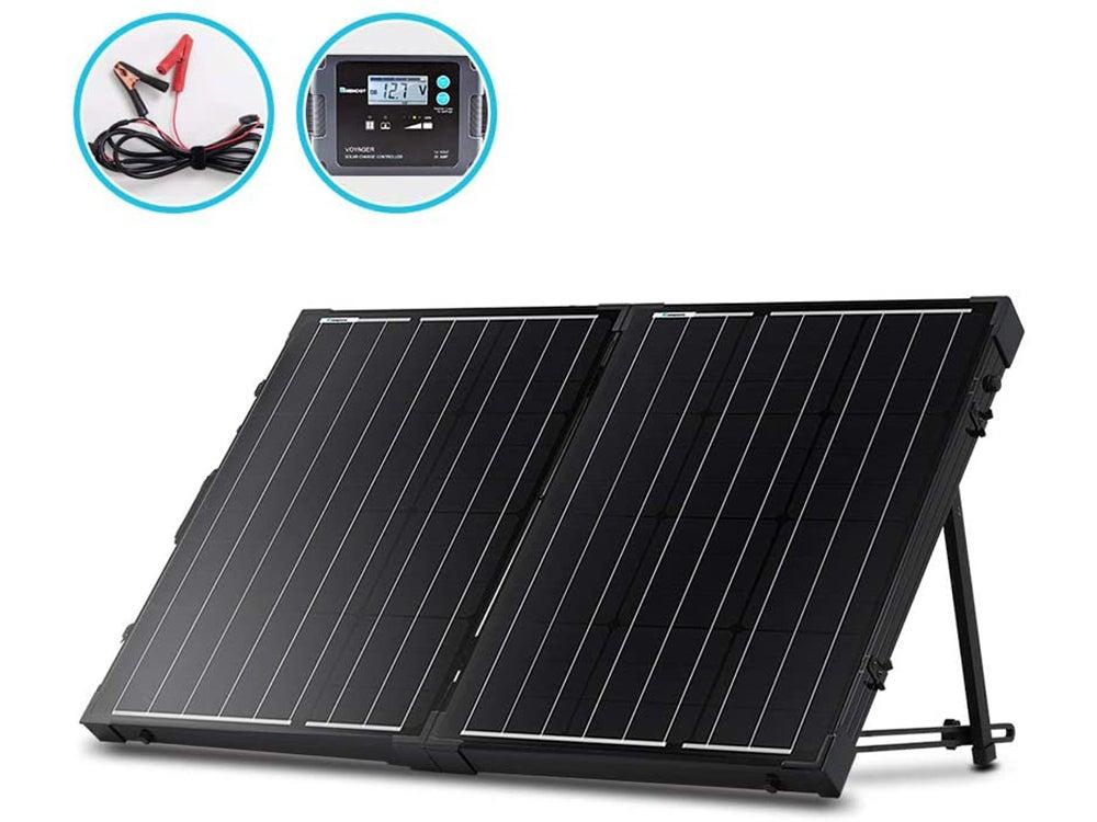 Renogy 100 Watt 12 Volt Monocrystalline Off Grid Portable Foldable 2Pcs 50W Solar Panel