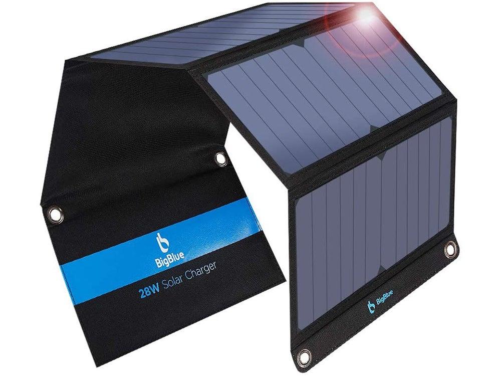 BigBlue 3 USB Ports 28W Solar Charger