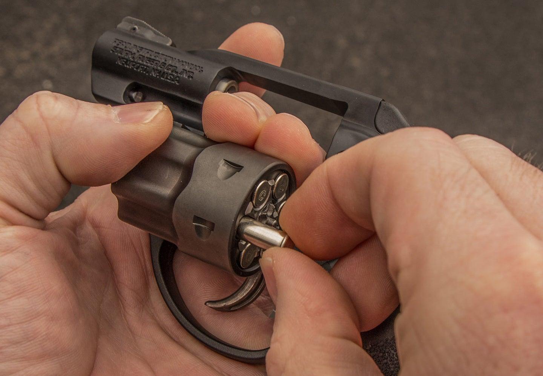 A small 22 magnum handgun