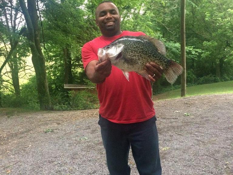 Jam Ferguson ate his 4-pound, 4-ounce black crappie.