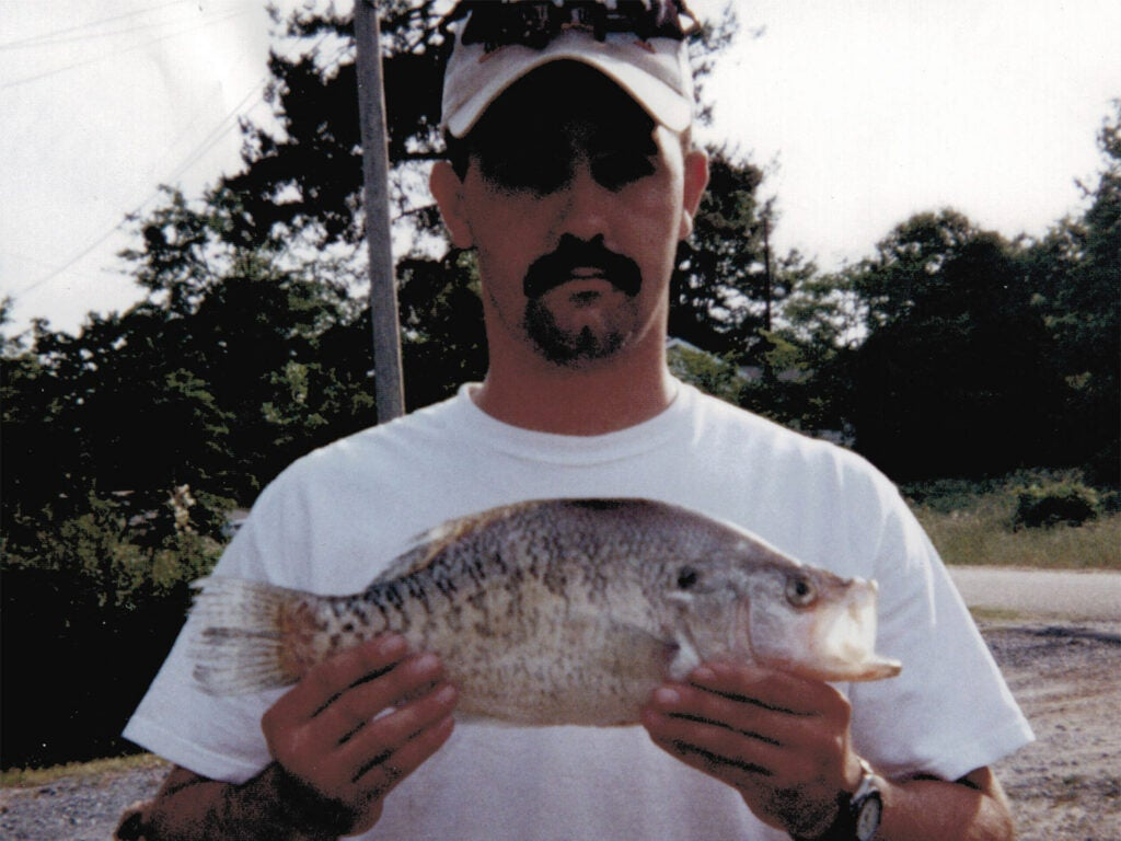 This is one of the largest white crappies every photographed.