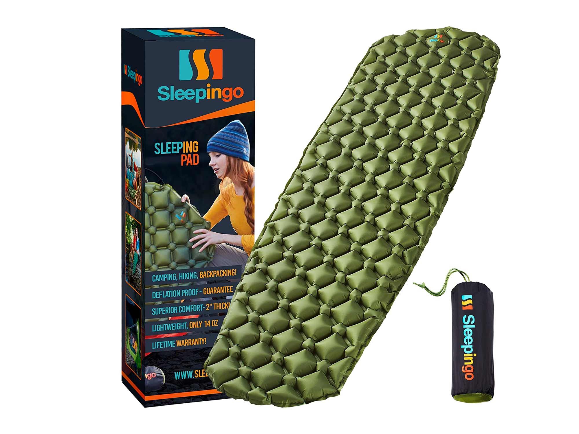 Sleepingo Camping Sleeping Pad - Mat, (Large), Ultralight 14.5 OZ, Best Sleeping Pads for Backpacking,
