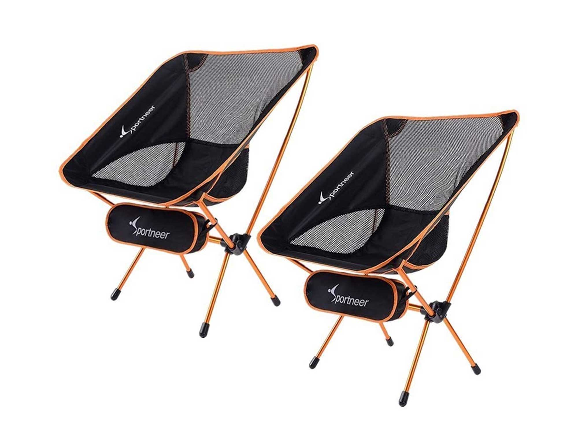 Sportneer Camping Chairs, Portable Ultralight Folding Camp Chair with Carry Bag
