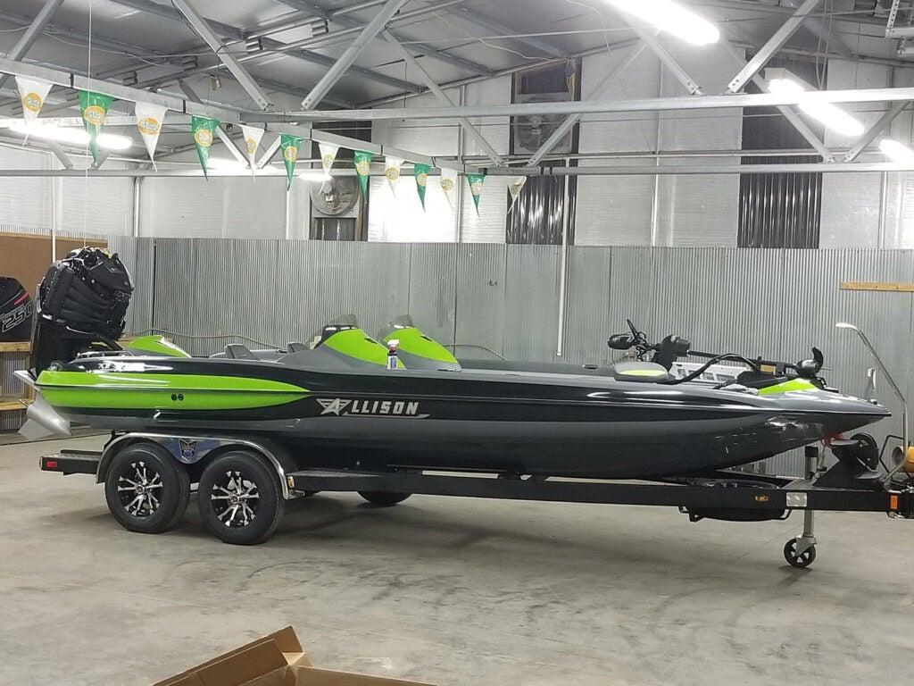 The Allison XB-21 bass boat.