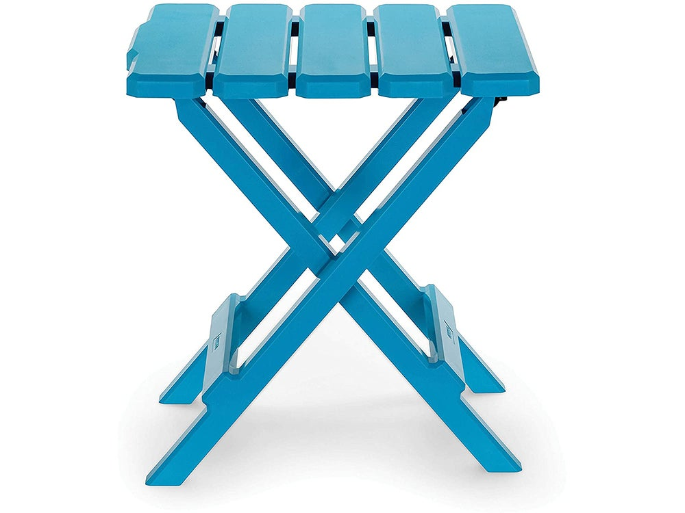 Camco Aqua Regular Adirondack Portable Outdoor Folding Side Table