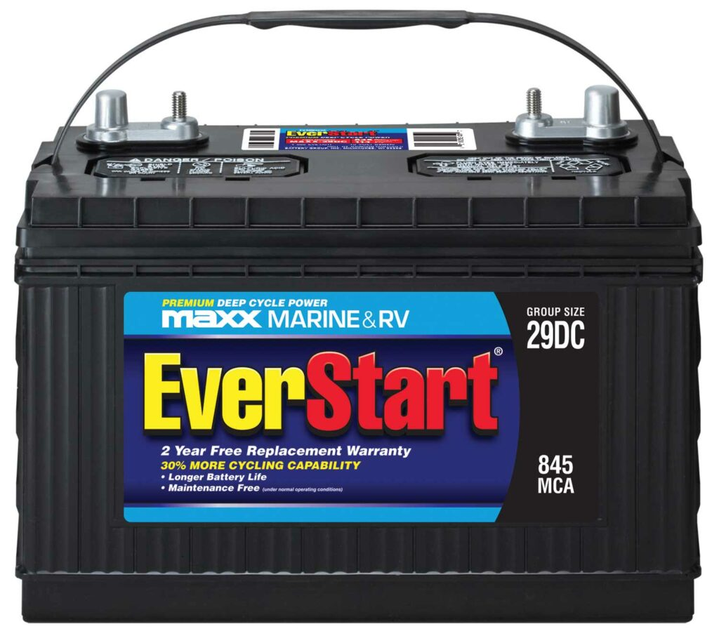 Deep-cycle batteries provide power in spades.