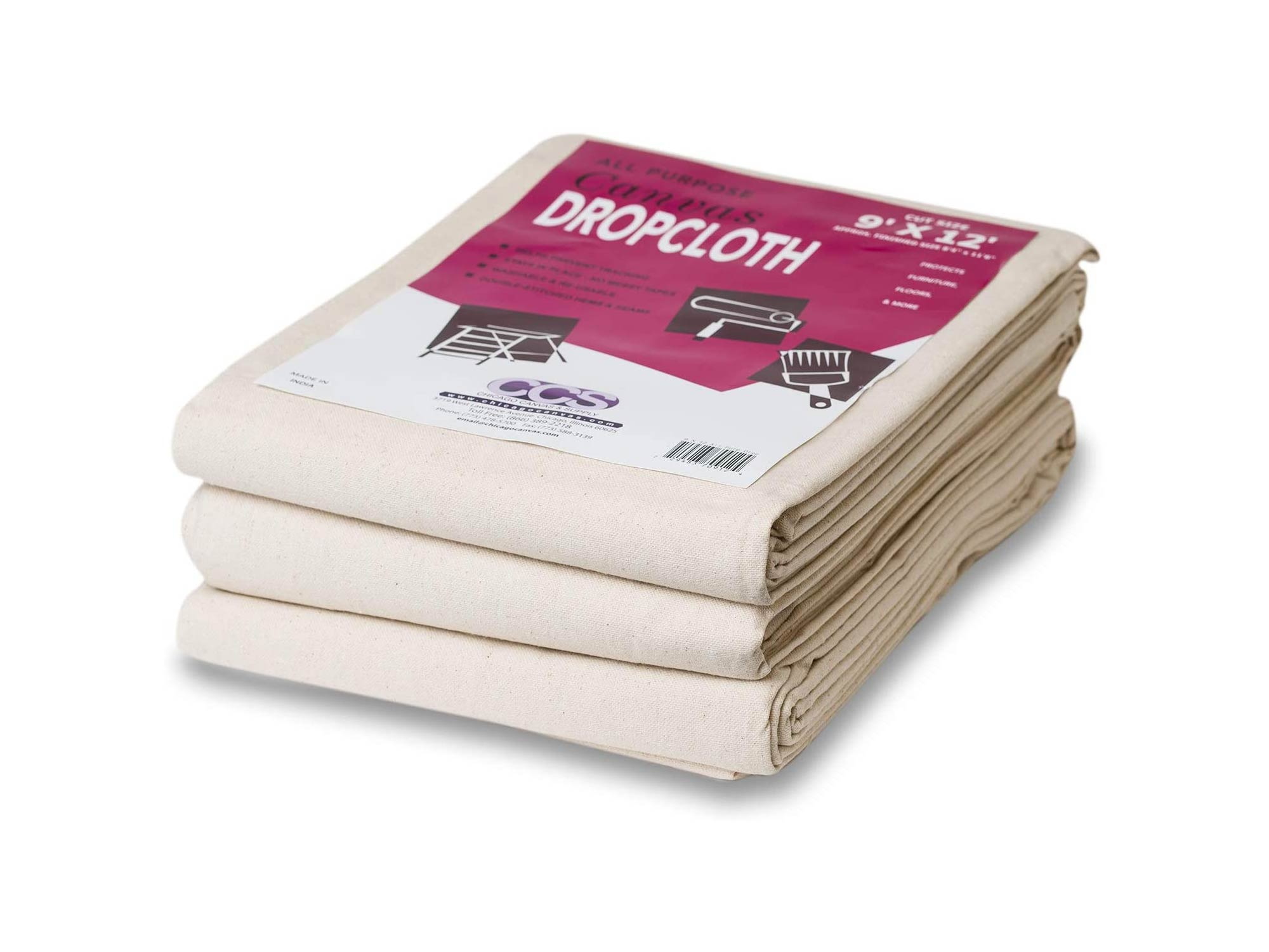 CCS CHICAGO CANVAS & Supply All Purpose Canvas Cotton Drop Cloth