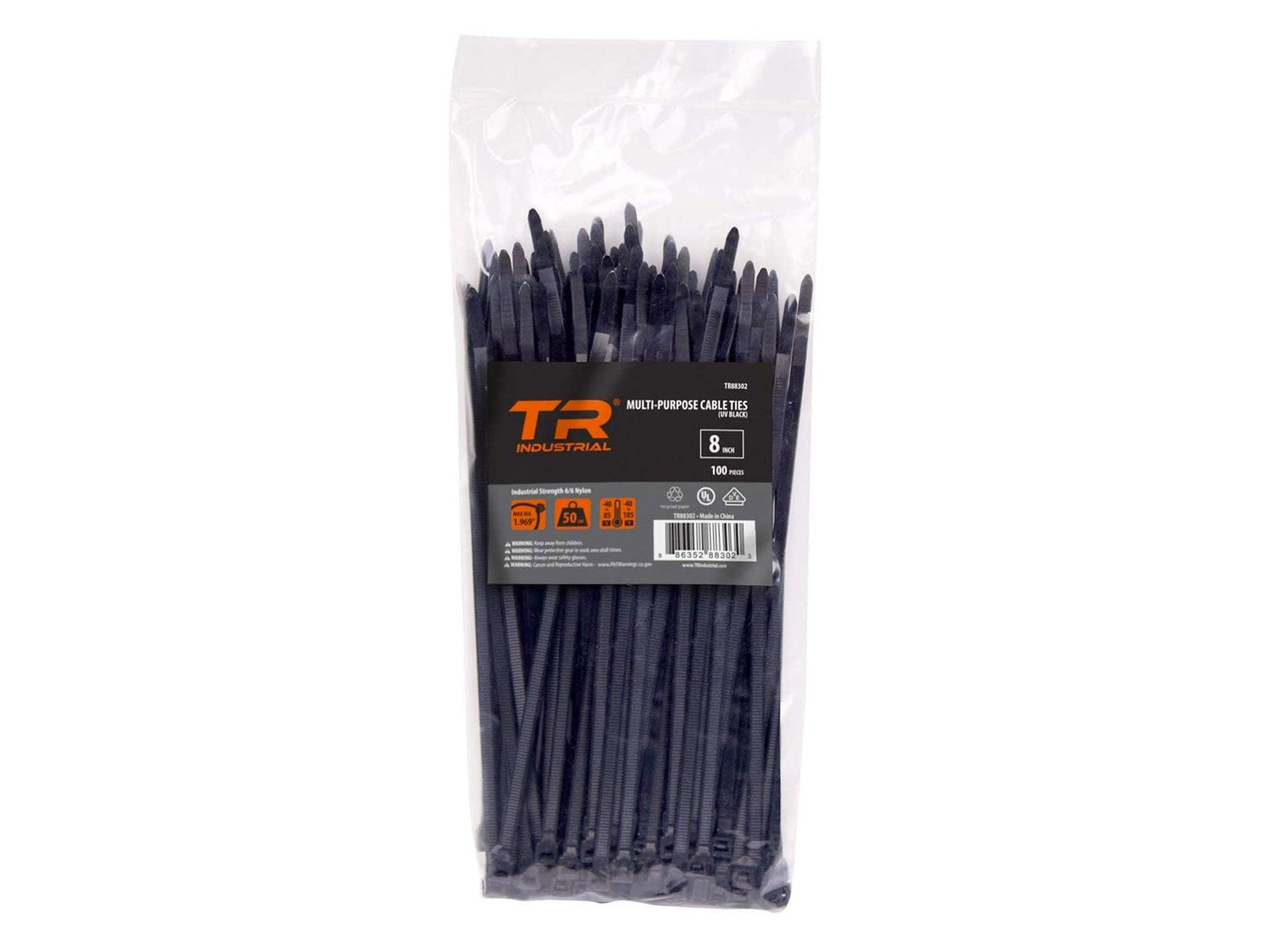 TR Industrial Multi-Purpose UV Resistant Black Cable Ties