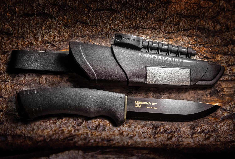 Mora Bushcraft Carbon Steel Knife.