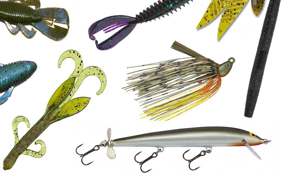 A collage of bass fishing images.