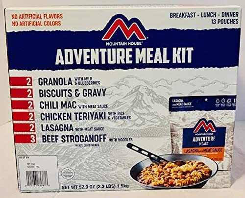 A box of adventure meal kit.