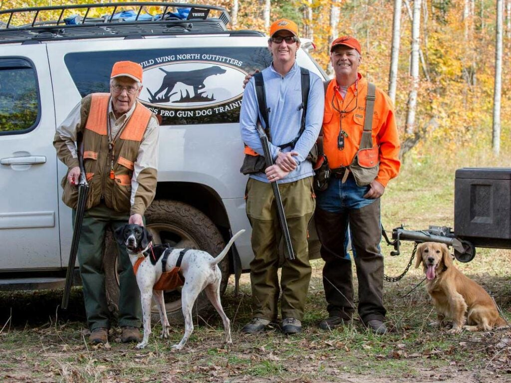 professional hunting guides and dogs.