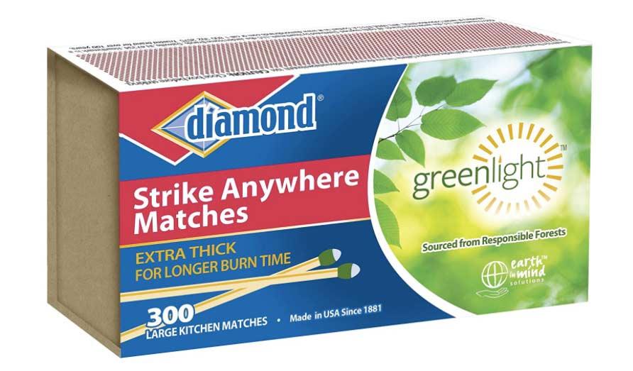 Diamond Greenlight Strike Anywhere Matches