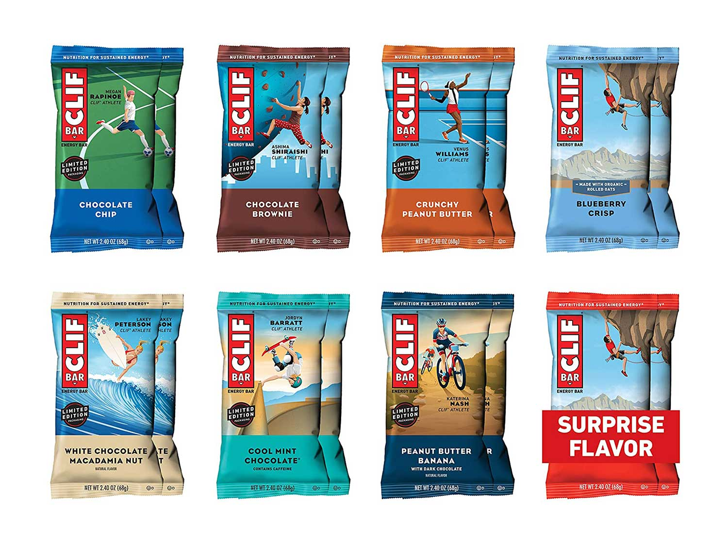 CLIF BAR - Energy Bars - Best Sellers Variety Pack - (2.4 Ounce Protein Bars, 16 Count) (Packaging and Assortment May Vary)