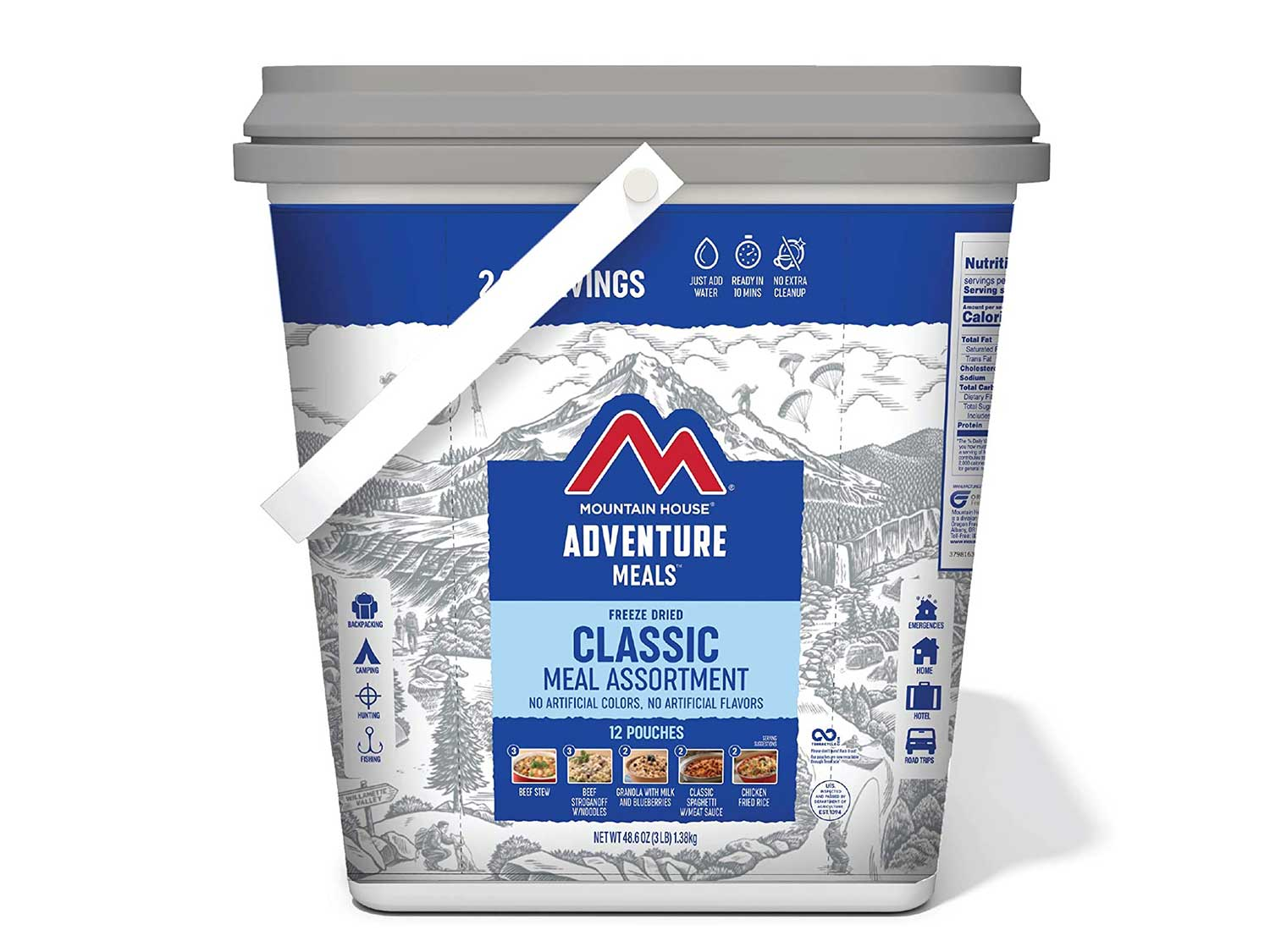 Mountain House Classic Bucket | Freeze Dried Backpacking & Camping Food