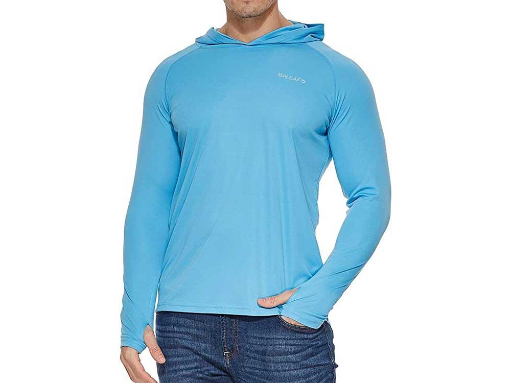 BALEAF Men's UPF 50+ Sun Protection Athletic Hoodie Long Sleeve