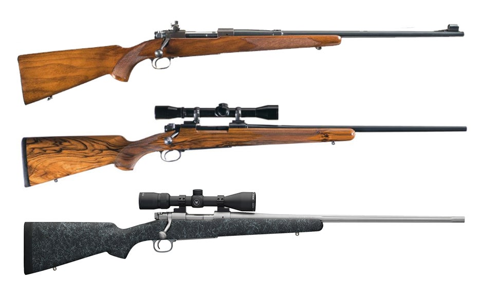 A collage of winchester rifles.