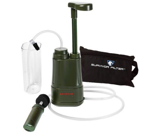 The Survival Filter Pro Portabale Water Filter Pump