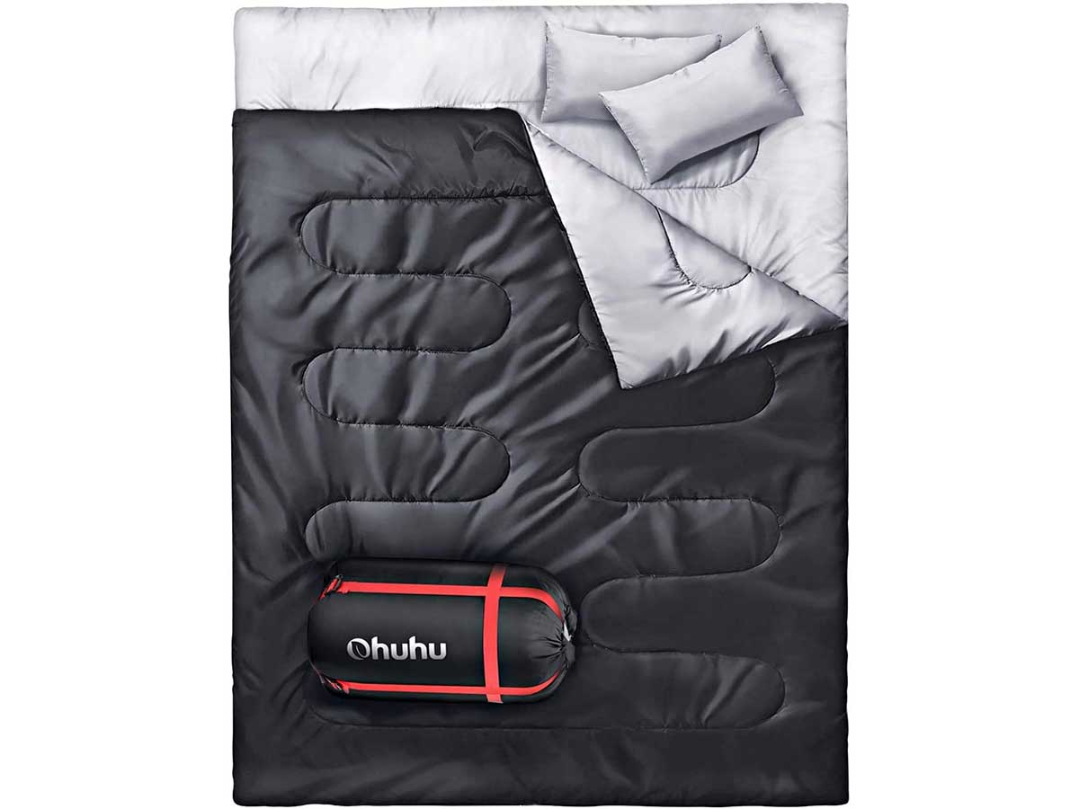 Ohuhu Double Sleeping Bag with 2 Pillows