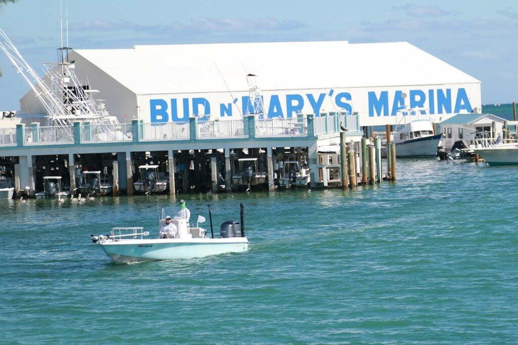 The Bud n' Mary's Marina in Islamorada.