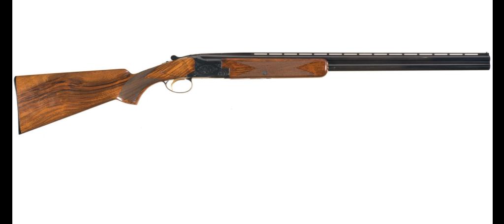 A Browning Superposed Lightning waterfowl hunting shotgun.