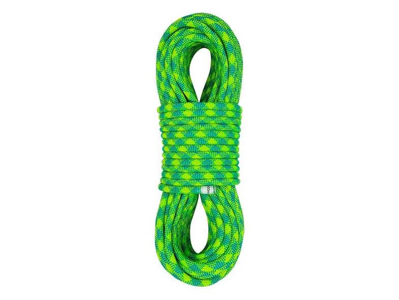 Green climbing rope