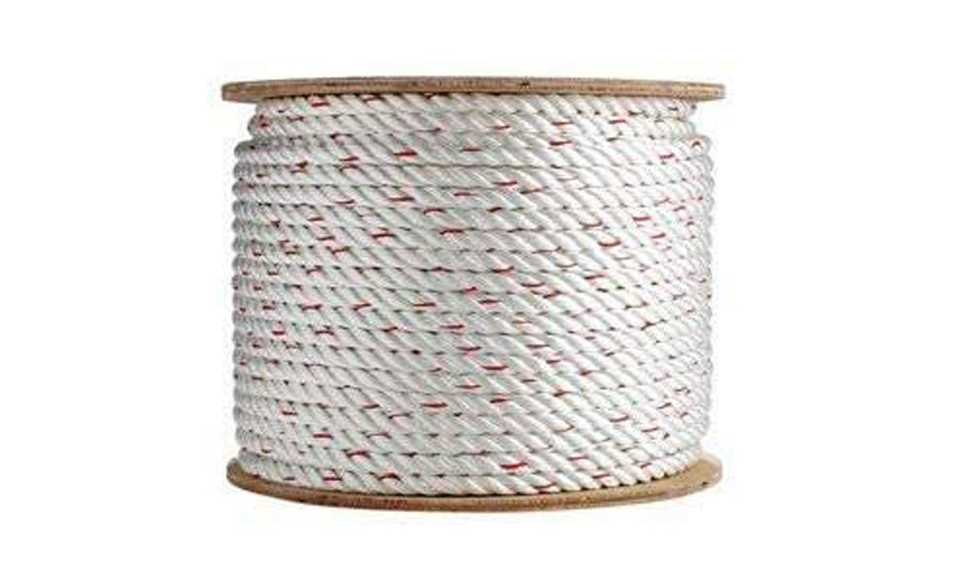 Twisted rope on a spool