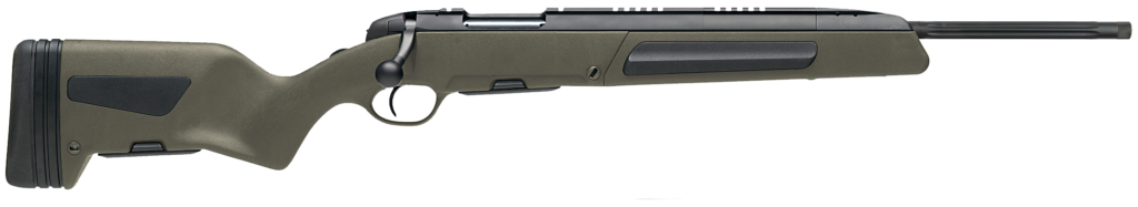 The Steyr Scout Rifle on a white background.