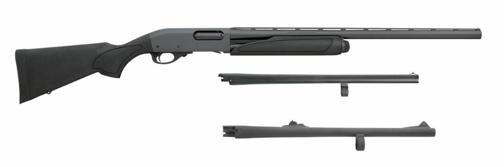 The Remington 870 Express Synthetic Field & Home Combo on a white background.