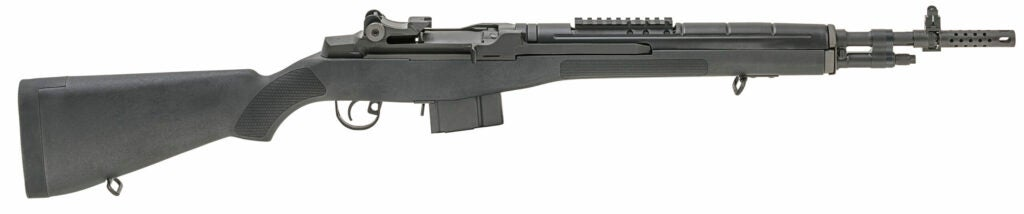 The Springfield Armory M1A Scout Squad Rifle on a white background