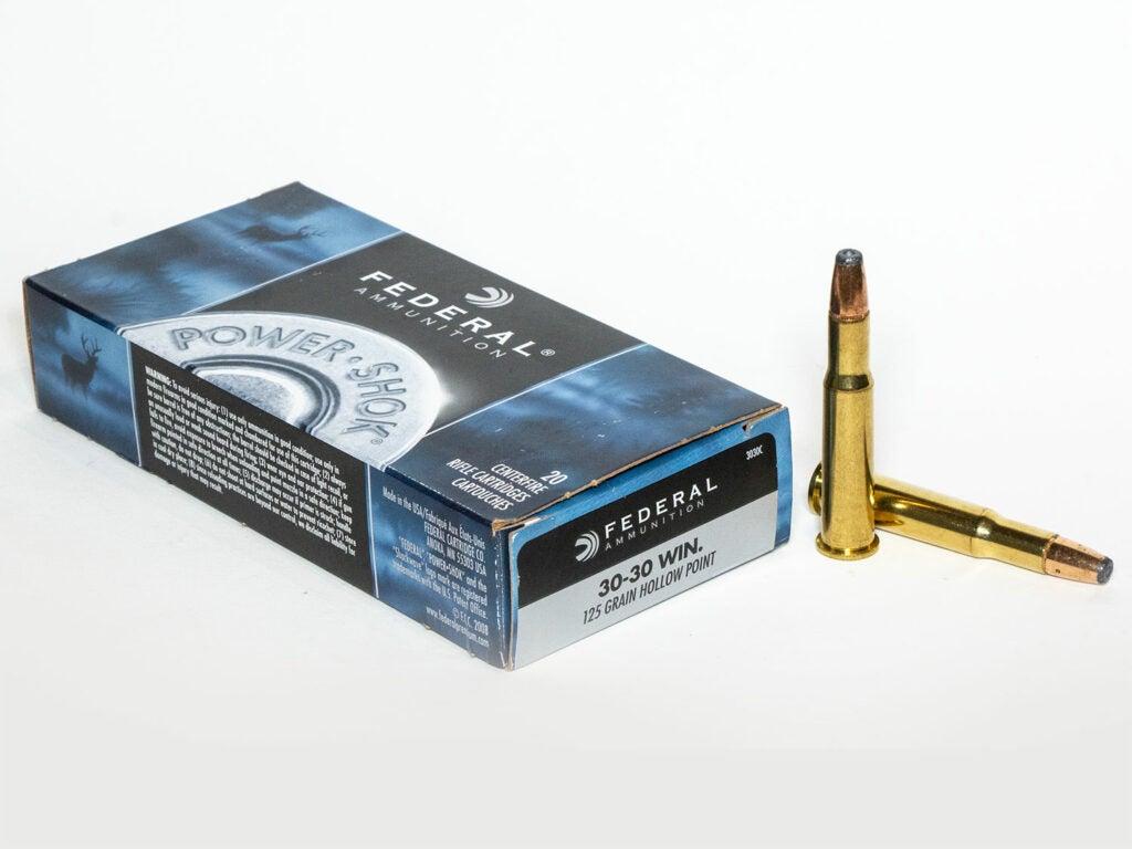 A box of rifle ammunition.