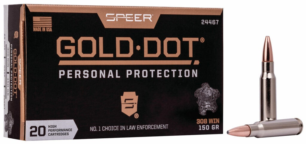 A Speer personal protection gold dot box of ammunition.