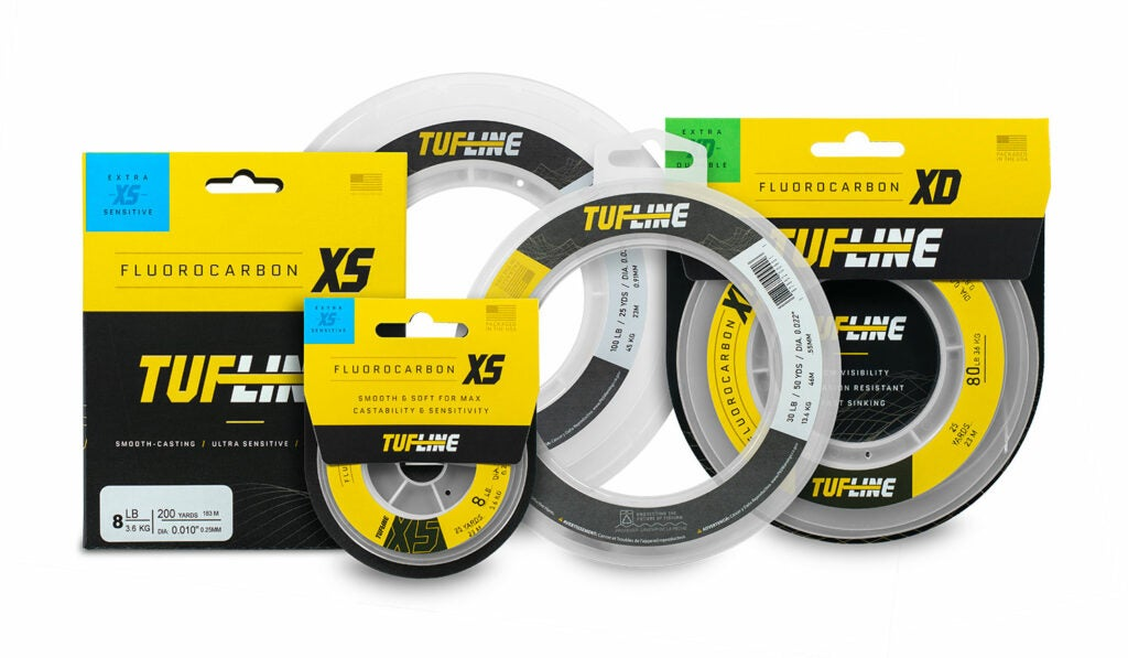 packages of fluorocarbon fishing line.