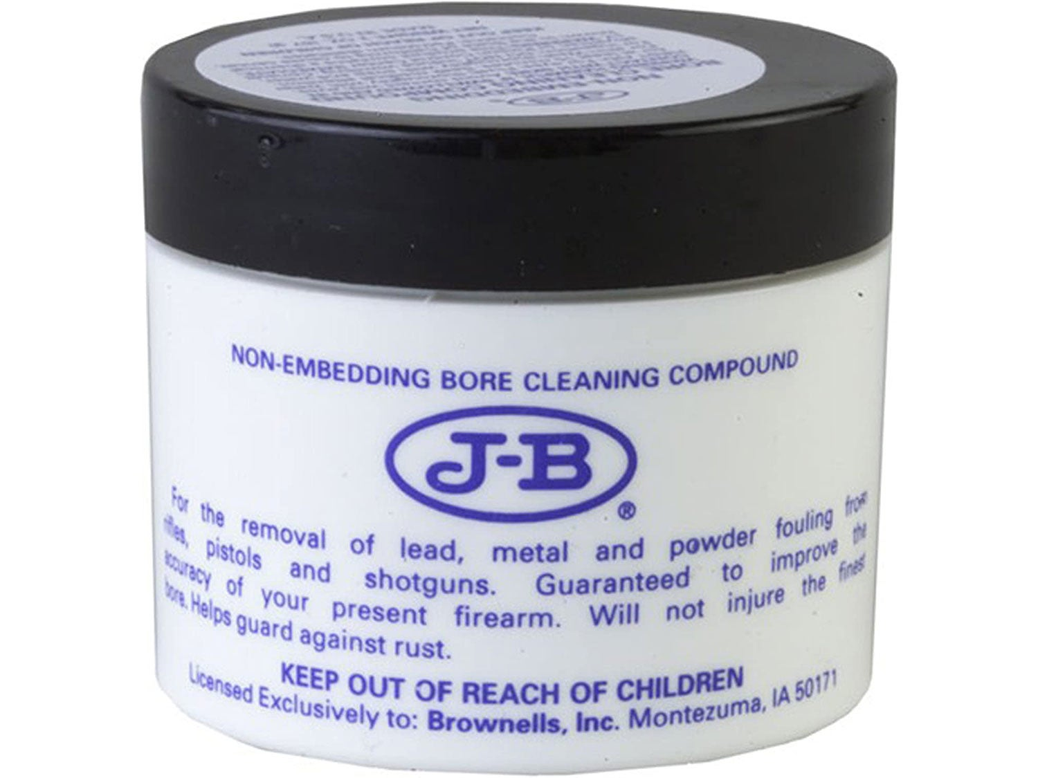 A tub of J-B bore cleaning compound.