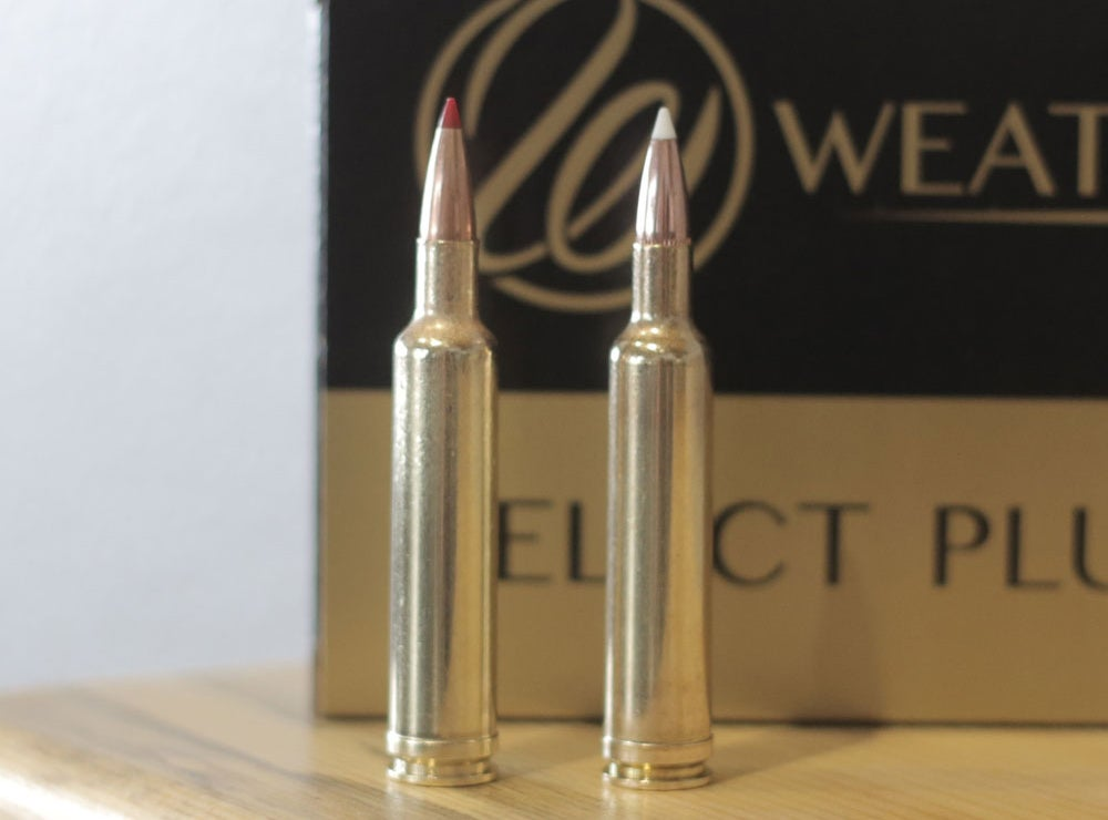 A box of Weatherby rifle bullets.