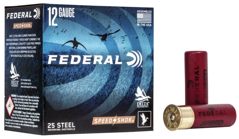 A box of federal speed shok on a white background.