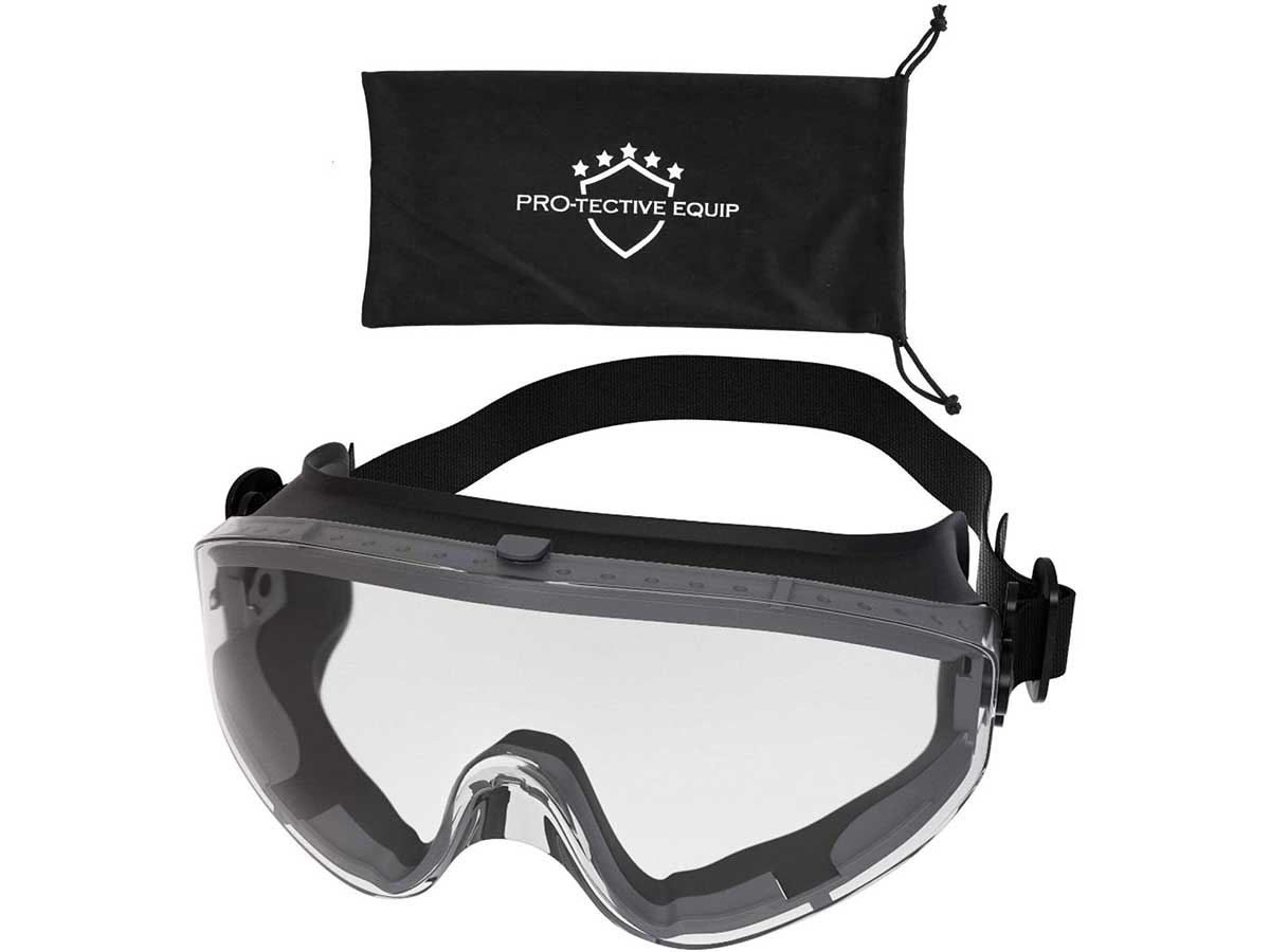 PROTECTIVE EQUIP Safety Goggles Over Glasses Clear Anti Fog Safety Glasses for Eye Protection