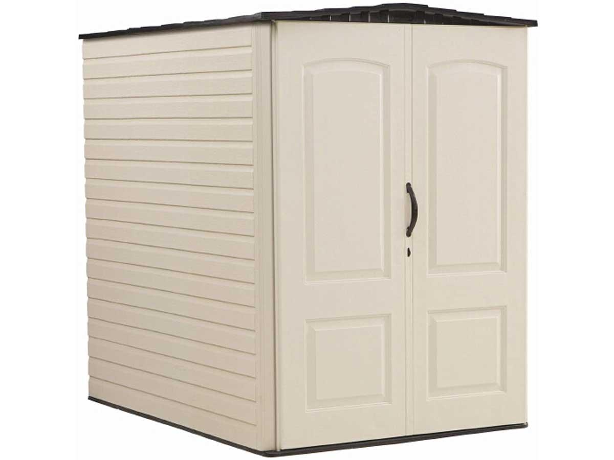 Rubbermaid Storage Shed 5x6 Feet, Sandalwood/Onyx Roof (FG5L3000SDONX)