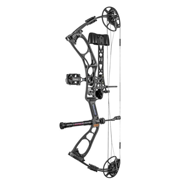 An Elite Ember compound bow on a white background.