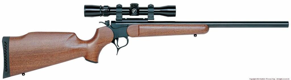The Thompson Center Contender gun on a white background.