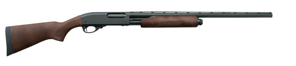 A Remington 870 Express pump-action shotgun on a white background.