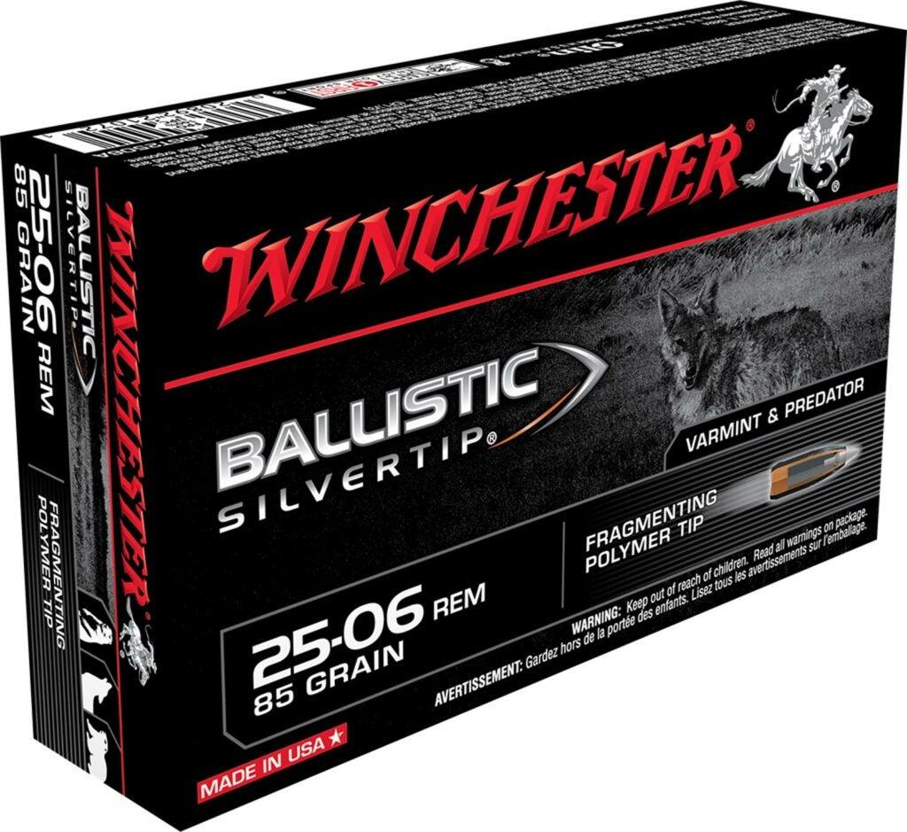 A box of Winchester Ballistic Silvertop ammo.